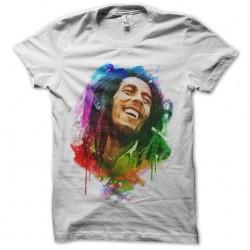 watercolor sublimation bob marley shirt