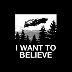 shirt i want to believe delorean sublimation