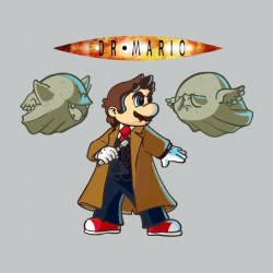 doctor who mario sublimation shirt