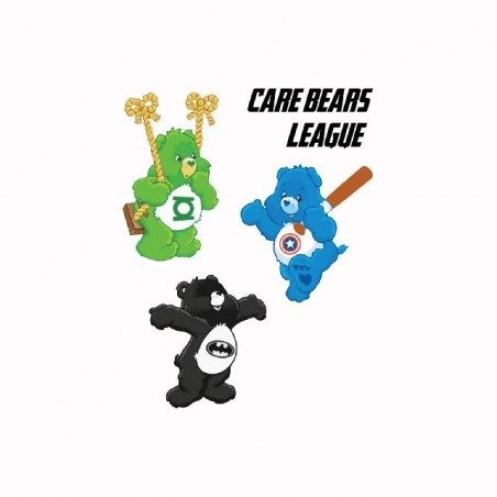 Care Bears League parody care t-shirt white sublimation