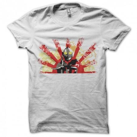 Ultraman white japanese sublimation flag t-shirt