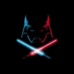 dark shirt vador saber neon sublimation