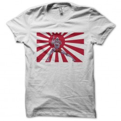 Ultraman t-shirt flag of the rising sun white sublimation