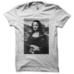 T-shirt Salvador Dali Joconde self portrait white sublimation