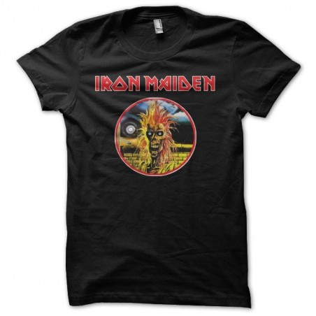 Iron Maiden fan art black sublimation t-shirt