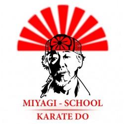 miyagi school white sublimation shirt