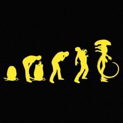 Alien evolution xenomorphic yellow and black sublimation egg t-shirt
