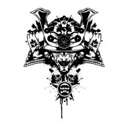 Samurai tattoo t-shirt in...