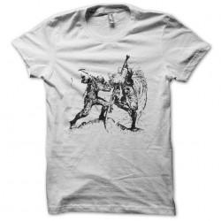 Samurai tattoo t-shirt against white Ninja sublimation