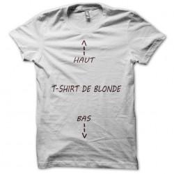 tee shirt de blonde  sublimation