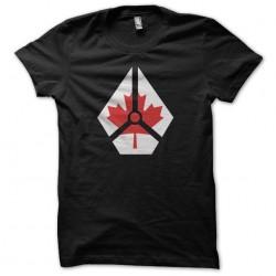Courtemanche Captain Canada t-shirt black sublimation