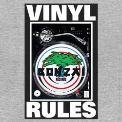 Bonzai records sublimation gray vinyl shirt