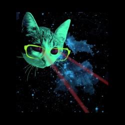 tee shirt chat de l espace rayons laser sublimation