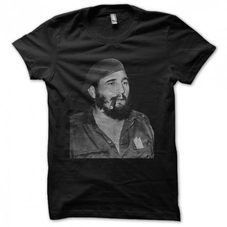 Fidel Castro black sublimation t-shirt