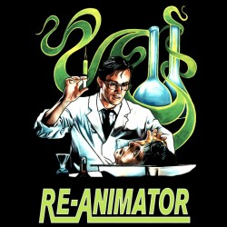 black sublimation re-animator shirt