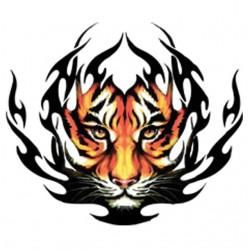 Graphic tiger tattoo...
