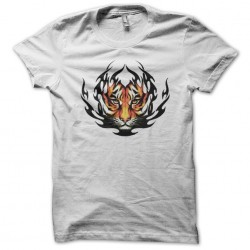 Graphic tiger tattoo t-shirt white sublimation