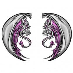 Twin dragon tattoo t-shirt...