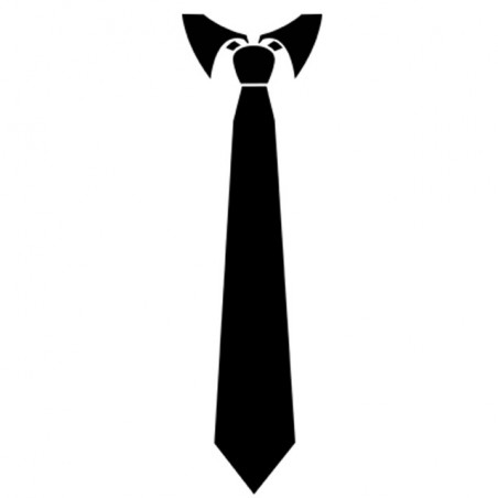 T-shirt MIB tie black in white sublimation
