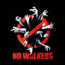 tee shirt no walkers walking dead sublimation
