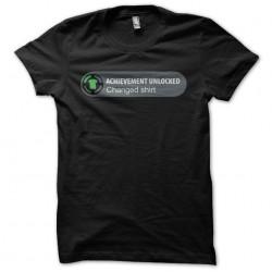 Achievement Unlocked T-shirt Changed Shirt black sublimation