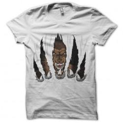 shirt wolf claw white...