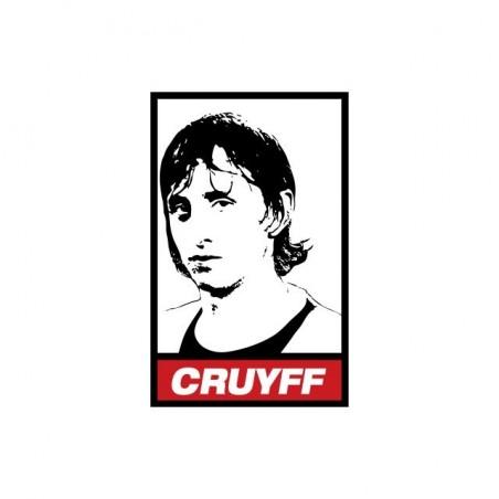 Johan Cruyff parody Obey white sublimation t-shirt