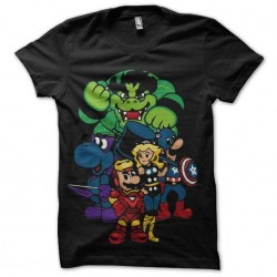 shirt mario bros avengers...