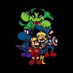 shirt mario bros avengers sublimation