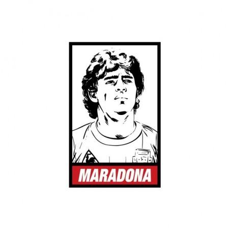 Diego Maradona parody Obey white sublimation t-shirt