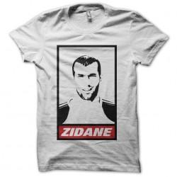 Tee shirt Zinedine Zidane parodie Obey  sublimation
