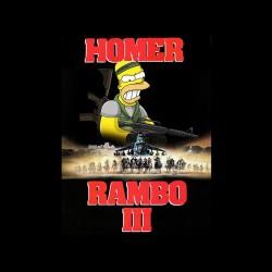 rambo homer simpson sublimation shirt