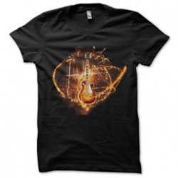 guitar gibson shirt fire...
