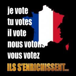 shirt I vote in France black sublimation