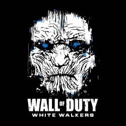 shirt wall of dutty white walkers got sublimation