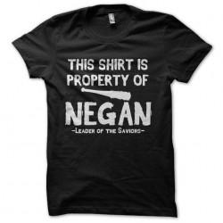 shirt of negan walking dead...