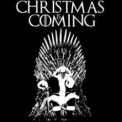 tee shirt Christmas is coming sublimation