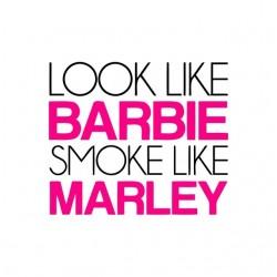tee shirt barbie smoke like bob marley sublimation