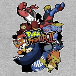 gray sublimation PokeFighter shirt