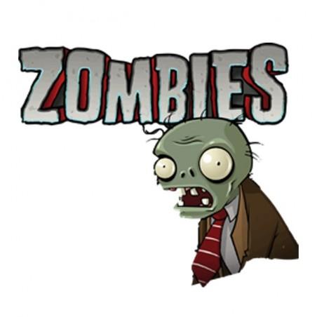 T-shirt plants against zombies white sublimation