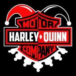 Harley quinn motorcycle shirt black sublimation