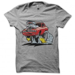gray muscle car shirt...