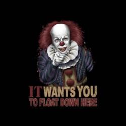 tee shirt il est revenu clown horreur sublimation