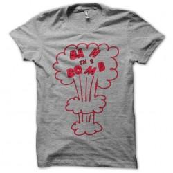 tee shirt ban the bomb gris...
