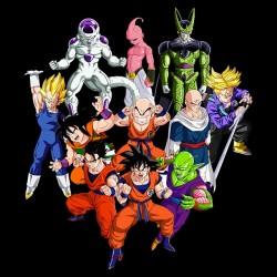 Dragon Ball Team shirt black sublimation