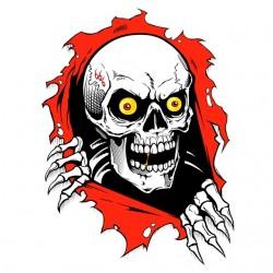 shirt 666 skull white...