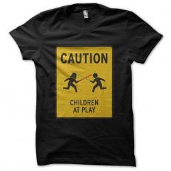 tee shirt caution children...
