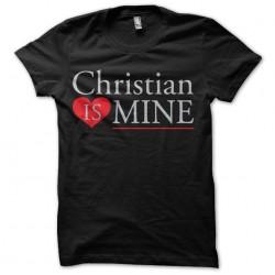 tee shirt christian is mine...