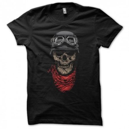 Black skull biker sublimation t-shirt