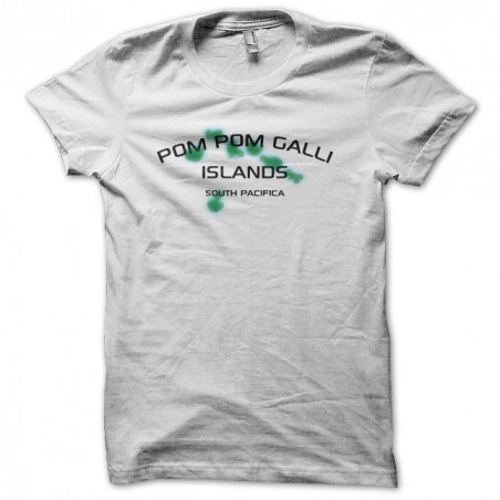 T-shirt The American Class PomPom Galli islands white sublimation